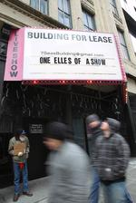 Former Lusty Lady marquee is back to 'punny' ways