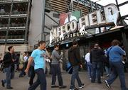 Some 20,000 employees were expected to attend Microsoft's meeting today at Safeco Field in Seattle.