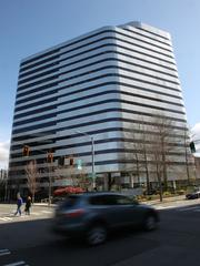 The Metropolitan Park building at 1730 Minor Ave. houses Facebook's new Seattle offices.