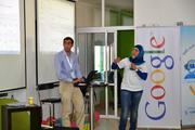 A Google senior account manager reviews the fundamentals of AdSense tools with Palestinian computer science students, recent graduates and entrepreneurs in Ramallah as part of the new Mercy Corps Arab Developer Network Initiative.