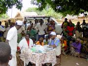 A mobile team of national health care workers performs systematic screening of the population in Bodo Village, Chad, for human African trypanosomiasis ( sleeping sickness). When infection is confirmed, the patients are treated. Without treatment, the disease is often fatal.