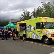 Taco Time Northwest's Taco Time Traveler travels to Puget Sound region community events and dishes out free samples ranging from Mexi-Fries to white chicken chili.
