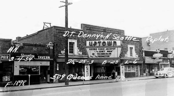 1950's picture  of the  historic Uptown Theater, in Seattle's  Queen Anne neighborhood. The theater, closed by AMC theater chain in November, will be reopened in October under a lease negotiated by SIFF (Seattle International Film Festival)