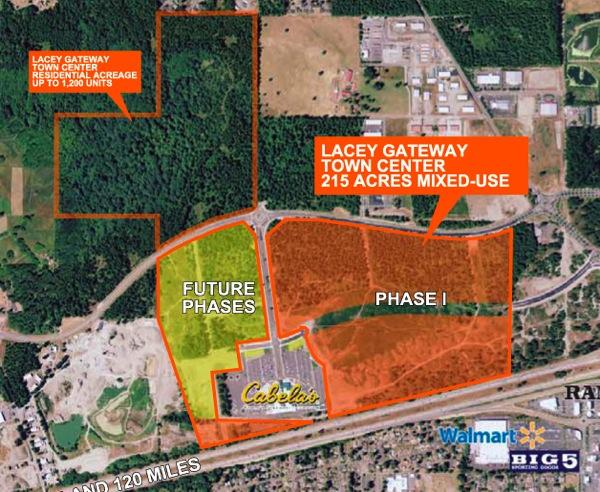Seattle's Kidder Mathews is looking for bids for  the 215-acre mixed-use development site known as Lacey Gateway Town Center that HomeStreet bank recently took over.