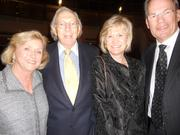 From left, Faye Sarkowsky, Herman Sarkowsky, Dorothy Fluke and David Fluke at a dinner last night for family and friends of Gerard Schwarz and the Seattle Symphony, following Schwarz's second-to-last concert as music director. All are major philanthropists and arts supporters, and close friends of Schwarz and his wife, Jody.