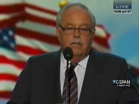 Jim Sinegal speaking Wednesday night at the Democratic National convention in Charlotte.