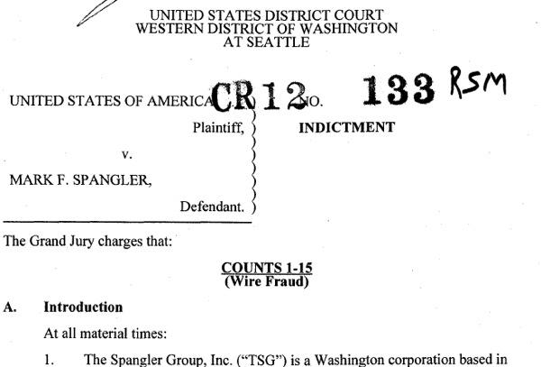 Seattle financial adviser Mark Spangler has pleaded not guilty to federal criminal fraud charges.