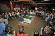 Thursday's TechFlash Summer BBQ and Ping-Pong Tournament at the Showbox SoDo (PSBJ photos/Marcus Donner)