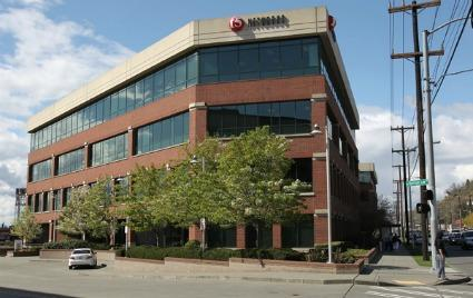 The three-building Seattle campus on Elliott Avenue West that houses tech company F5 Networks is on the market.