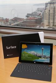 Microsoft's new Surface tablet at the Seattle offices of Slalom Consulting.