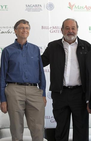Bill Gates, left, and Carlos Slim.