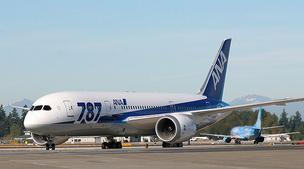 An All Nippon Airways Boeing 787 Dreamliner last fall at Seattle-Tacoma International Airport after the airline began regular service with the plane between Tokyo and Seattle.