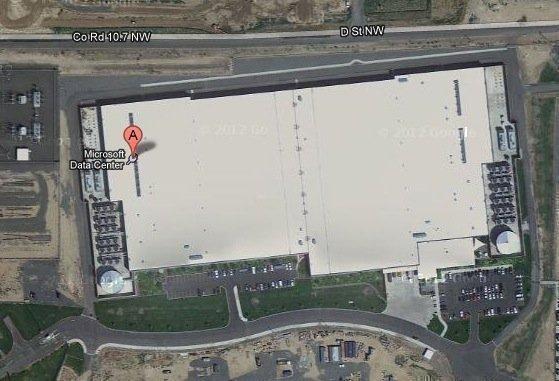 Microsoft's Columbia Data Center near Quincy, Wash.