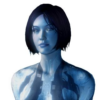 Cortana, a character in Microsoft's Halo Games