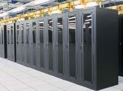 The interior of an Equinix data center.