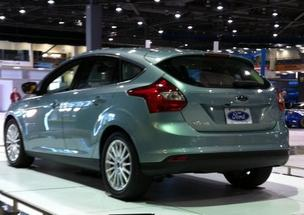 The Ford Focus Electric at the Seattle International Auto Show