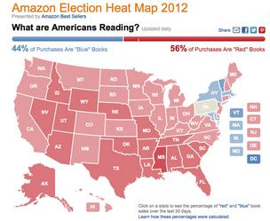 Amazon.com Election Heat Map 2012