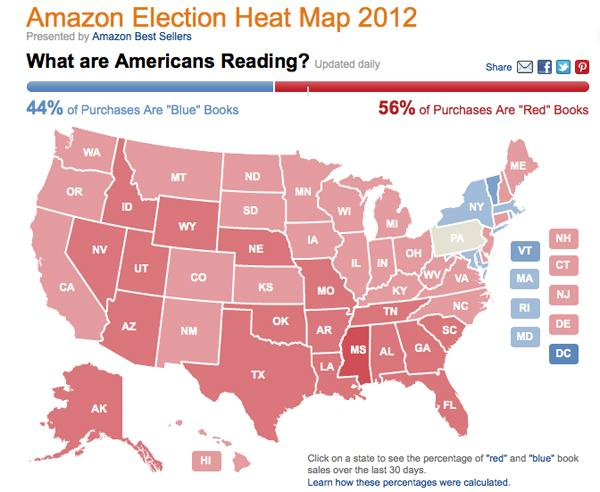 Political Map 2012 Election.Amazon S Election Heat Map Tracks Us Political Book Sales Puget