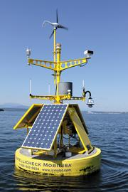An Intellicheck Mobilisa buoy near Port Townsend. The company's detection buoys are equipped with a variety of sensors and are able to protect themselves against vandals, report damage immediately and potentially avert tragedy. They recently were released for commercialization after a Navy research and development contract expired. For more, click here.