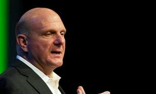 Microsoft CEO Steve Ballmer, during the company's annual shareholders meeting, scoffed at a shareholder's suggestion that the company split into multiple parts.