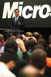 Romney's speech didn't shy away from two issues key to Microsoft and its employees – trade and intellectual property (PSBJ photos/ Anthony Bolante)