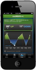 Seattle Sounders FC, POP partner for match day app for iPhone