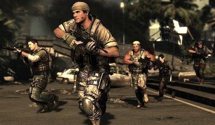 A screen shot from Zipper Interactive's SOCOM 4: US Navy SEALS game.