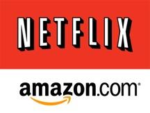 As it builds its media library, Amazon is making gains on Netflix in the video streaming market.