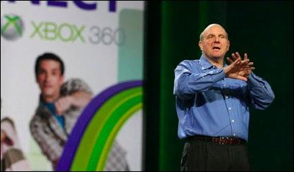 Ballmer at last week's Consumer Electronics Show. (Microsoft photo)