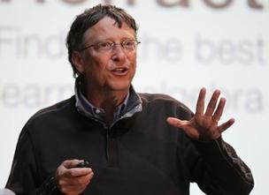 Microsoft co-founder Bill Gates spoke to about a thousand students at UW's School of Computer Sciences and Engineering Thursday.(PSBJ photos/Anthony Bolante)