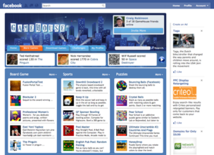The new GameHouse app for Facebook, an early example of the capabilities of the underlying GameHouse Fusion platform being offered by RealNetworks' games unit.