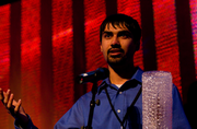 """UW professor Shwetak Patel beat out some big names, including Steve Ballmer, Ben Huh, Andy Sack, Paul Allen and Jeff Bezos, to capture the """"Newsmaker of the Year"""" award. The researcher and entrepreneur said his next project may relate to sewage systems in homes. [Photo via Randy Stewart]"""