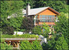 Gates' house, viewed from Lake Washington. Flickr Photo, TikTik