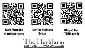 On the Herbfarm menu: QR codes