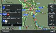 A screenshot from the Audi navigation system