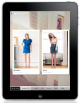Sprella's fashion app for the iPad