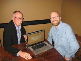 Ron Erickson, left, and Todd Weaver of ivi.