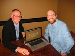 Ron Erickson, left, and Todd Weaver of ivi Inc.