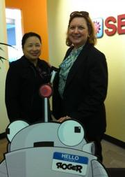 Janette Toral with SEOmoz co-founder Gillian Muessig.