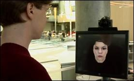 Microsoft Research's 'virtual receptionist' prototype, an early application of the personal agent concept.