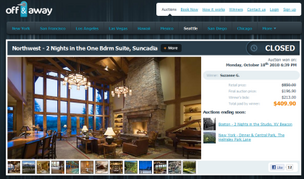 Off & Away lands $2 million for luxury hotel auction service
