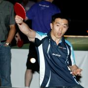 Valeri Kim, representing Akvelon, defended his TechFlash title in 2010 in the expert ping-pong division. (PSBJ photo/Marcus Donner)
