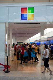 The exterior of Microsoft's new store in Scottsdale, Ariz. (Microsoft photo)