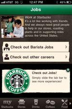 Starbucks makes hire via iPhone
