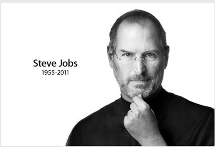 Apple's home page has this memorial to Steve Jobs (click on image to go to page)