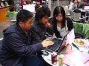 Students Alex Fu, Quincy Pham and Alisa Nguyen.
