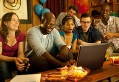 Microsoft is using this promotional image to depict its vision for the Windows 7 house parties, but we have a hunch the reality will be much more geeky.