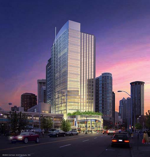 The West 8th building in Seattle's Denny Triangle is for sale, according to local real estate brokers.