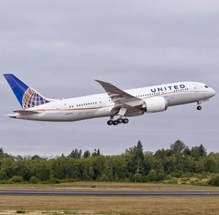 United Airlines is the first U.S.-based carrier to receive a Boeing 787 Dreamliner.