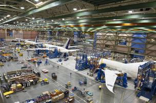 Boeing's 787 production line in Everett